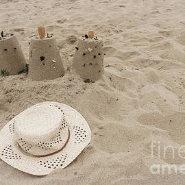 Straw Hat on the Beach by Colleen Kammerer