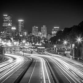 Streaking in Pittsburgh BandW by John Duffy