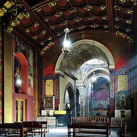 Stream of Light, Armenian Church, Lviv, Ukraine by Lyuba Filatova