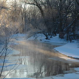 Streams of Morning Light on the Creek by Kathy Carlson
