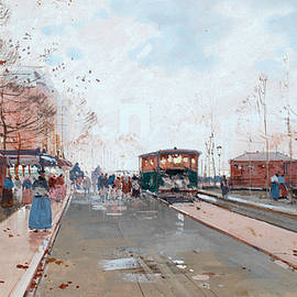 Street scene - Eugene Galien-Laloue