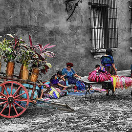 Street Vendors - Antigua Guatemala III by Totto Ponce