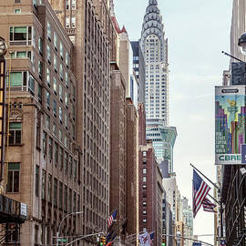 Matteo Colombo - Street view with Chrysler building, New York, USA