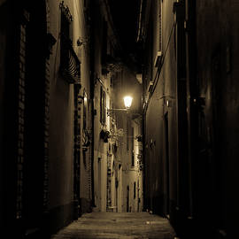 Streets Of Italy At Night 3 by Andrea Mazzocchetti