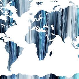 Striking Blue World Map  - Irina Sztukowski