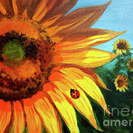 Striking Sunflower by Yoonhee Ko