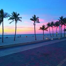 Patricia Awapara - Strolling Along The Beach Under a Majestic Sunset