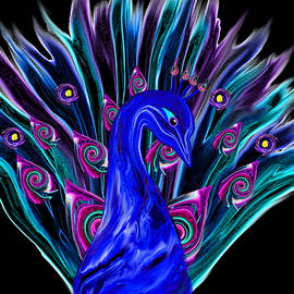 Abstract Angel Artist Stephen K - Strutting Peacock