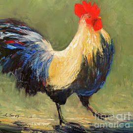 Strutting Rooster by Carolyn Jarvis