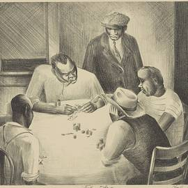 Stud Poker By Charles Henry Alston 1938 by Movie Poster Prints