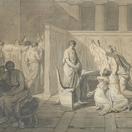 Study For The Lictors Bringing Brutus The Bodies Of His Sons by Jacques-Louis David