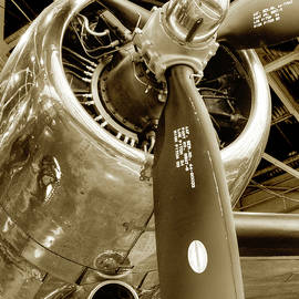 Stunning Propeller In Sepia by Dennis Dame