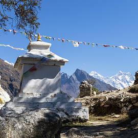Stupa on the Way to Everest Base Camp by Yuka Ogava