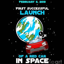 Successful launch of the first car in space by Daniel Ghioldi