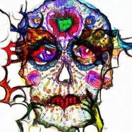 Sugar Skull Blues by Kiki Art