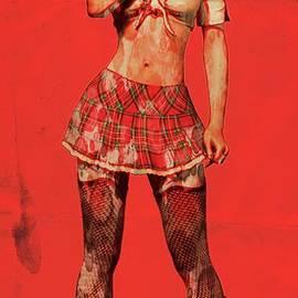 Suicide Girl Pop Art by Mary Bassett - Mary Bassett