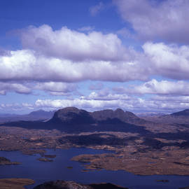 Suilven form Stac Pollaidh Inver Pollaidh National Nature Reserve Wester Ross Scotland