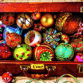 Suitcase Full Of Christmas Ornaments - Garry Gay