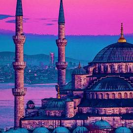 Sultanahmet, Istanbul Turkey In Watercolor by Celestial Images
