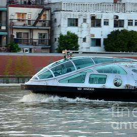 Imran Ahmed - Sumida River cruise boat in motion Tokyo Japan