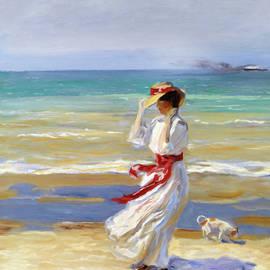 Georgiana Romanovna - Summer Beach Walk Impressionism