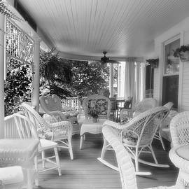 Summer Day On The Victorian Veranda BW 02 by Thomas Woolworth