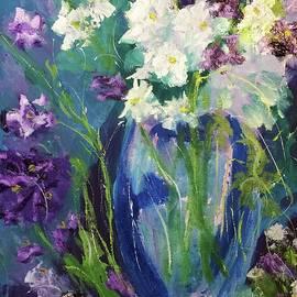 Margaret Morgan - Summer Flowers in Blue Vase