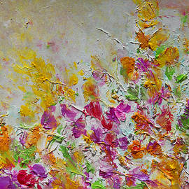 Summer Fragrance Abstract Painting by Julia Apostolova