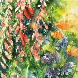 Summer Garden Light with Foxgloves  by Trudi Doyle