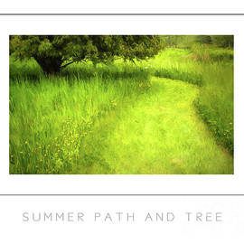 Mike Nellums - Summer Path and Tree poster