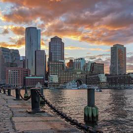 Kristen Wilkinson - Summer Sunset at Boston