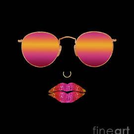 Tina Lavoie - SummSexy Lips Sunglasses, Nose Ring fashion art, Summer Heater Heat