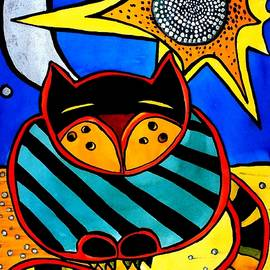 Sun and Moon - Honourable Cat - Art by Dora Hathazi Mendes by Dora Hathazi Mendes