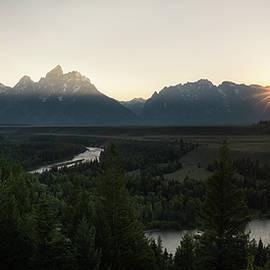 James Udall - Sun Setting over the Teton Range