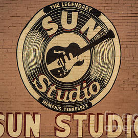 Sun Studio Memphis Tennessee Sign Art by Reid Callaway