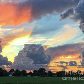 Sunbeams Through The Evening Sky by Luther Fine Art