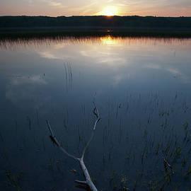 Sundown, Kennebec River, South Gardiner, Maine #8380-8382 by John Bald