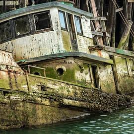 Bill Gallagher - Sunken Boat In Noyo Harbor II