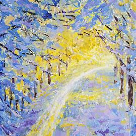 Olga Malamud-Pavlovich - Sunny road in the winter forest