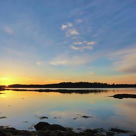 Juergen Roth - Sunrise across Hornbarn Cove and Back River near Friendship Maine
