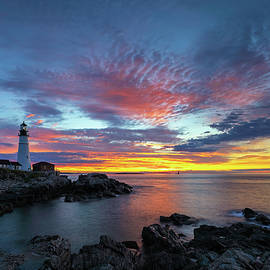 Sunrise at Portland Head Light by Juergen Roth