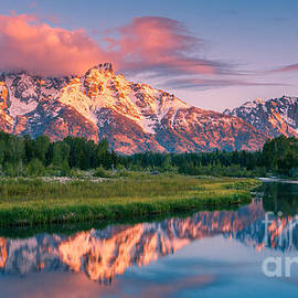 Sunrise at Schwabacher's Landing, Grand Teton N.P by Henk Meijer Photography