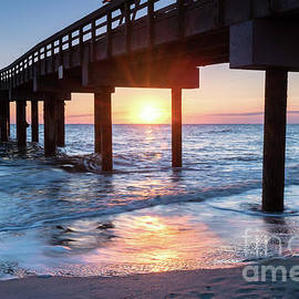 Dawna Moore Photography - Sunrise at St. Augustine Beach Pier, Florida