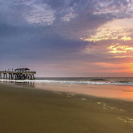 Sunrise At Tybee Island Pier by James Woody