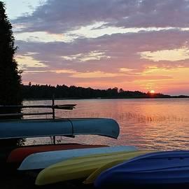 Julie Ketchman - Sunrise Awakes a Kayak Day