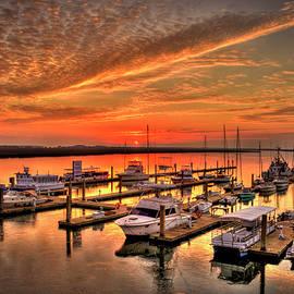 Reid Callaway - Sunrise Bull River Marina Tybee Island Savannah Art
