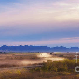 Priscilla Burgers - Sunrise Fog Over the Colorado and Gila Rivers