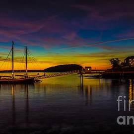 New England Photography - Sunrise from Bar Harbor Maine.