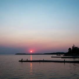 Mary Lee Dereske - Sunrise in Copper Harbor Michigan
