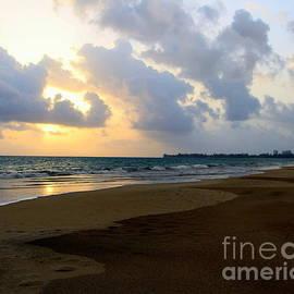Sunrise Luquillo Beach Puerto Rico by Charlene Cox
